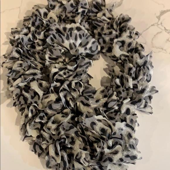 Blk grey white scarf a statement piece